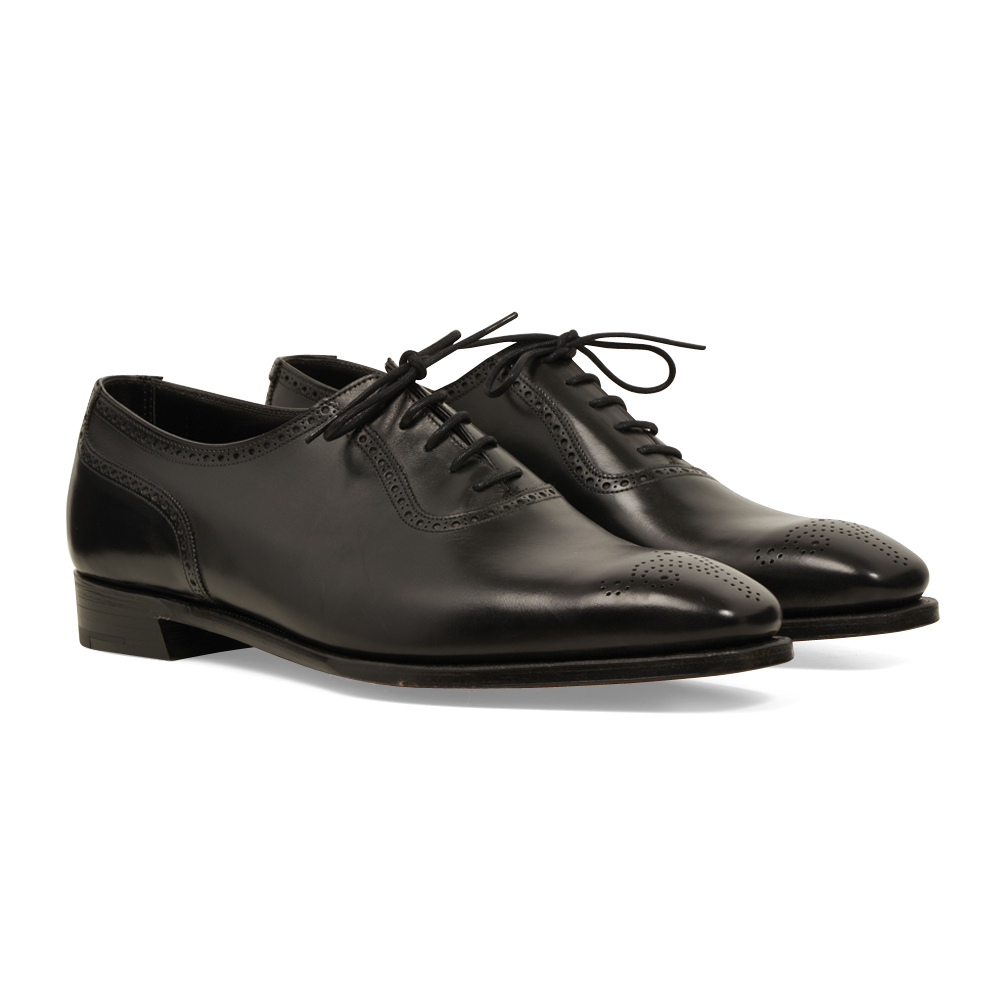 Black Calf Leather Harry Oxfords