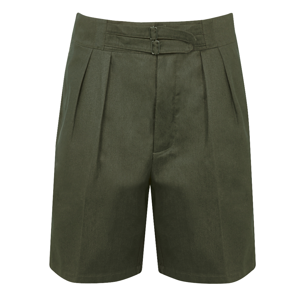 Olive Cotton SOII Safari Shorts