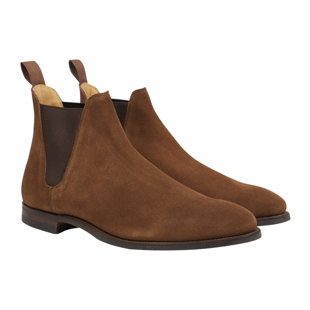 Snuff Brown Calf Suede Chelsea VIII Boots