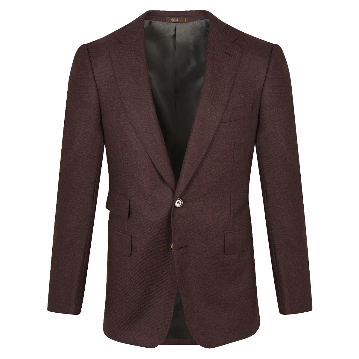 Burgundy Cashmere Single-Breasted Jacket