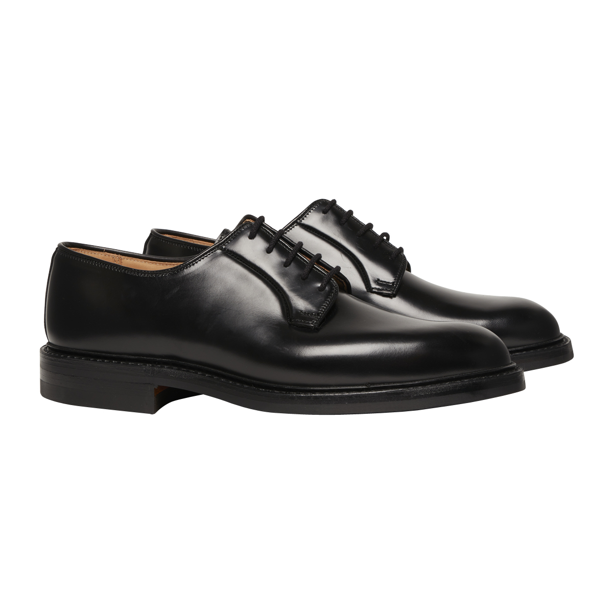 Black Cavalry Calf Leather Archie Derbys