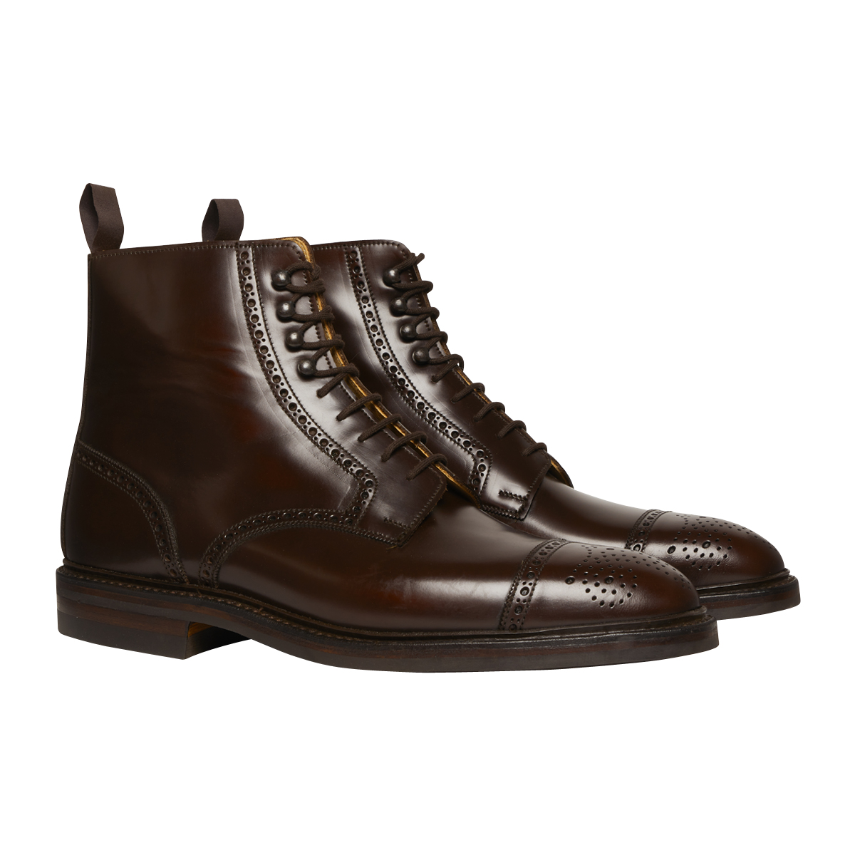 Brown Cavalry Calf Leather Toby Derby Boots