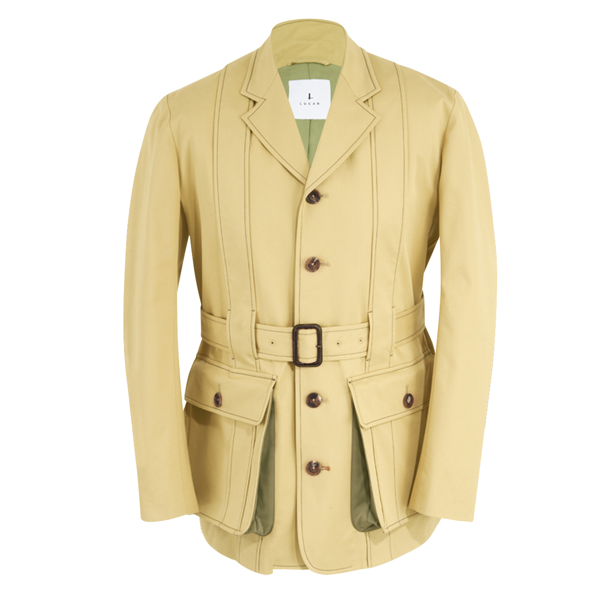 Sandstone Cotton Twill Safari Norfolk Jacket
