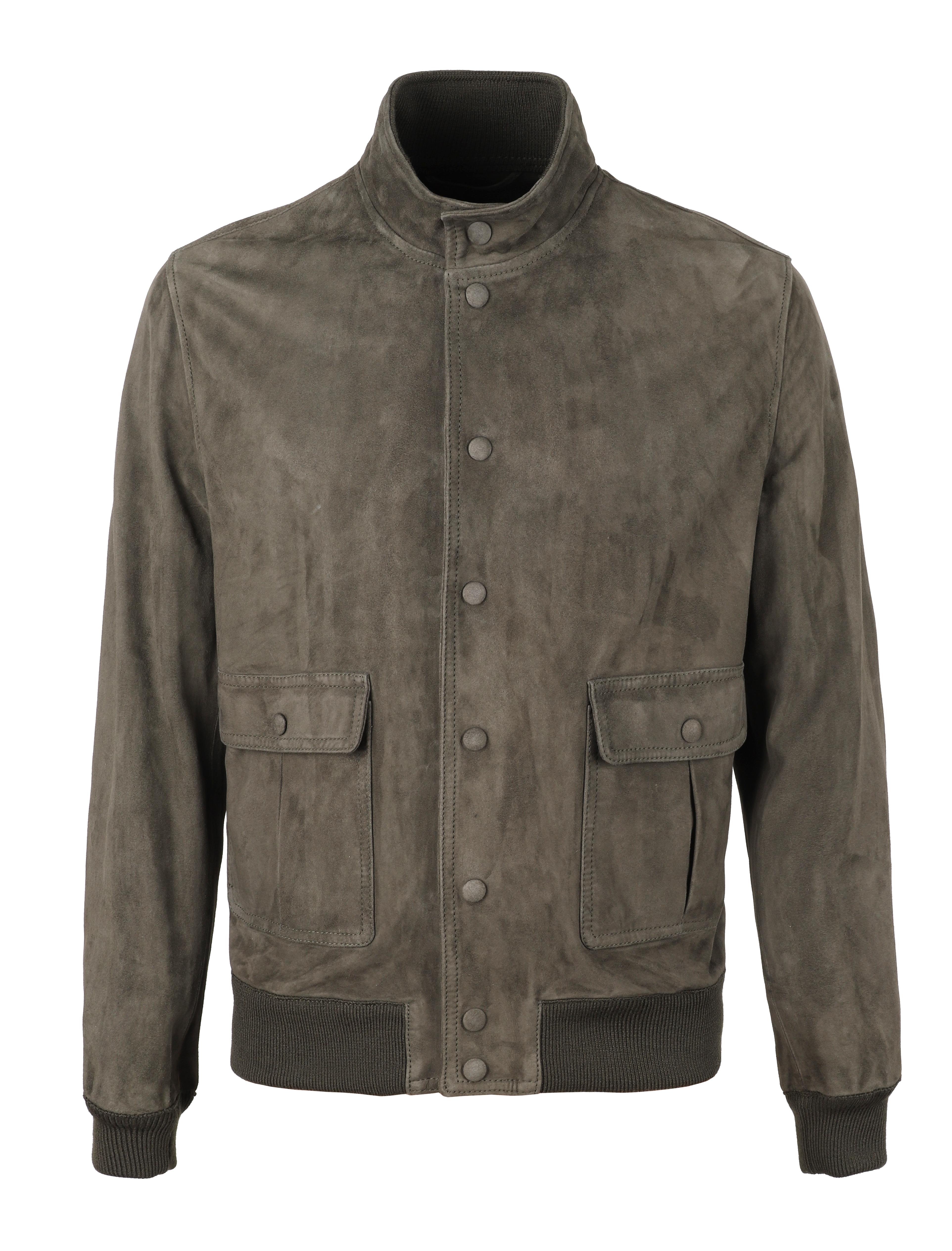 Grey Unlined Suede Jacket