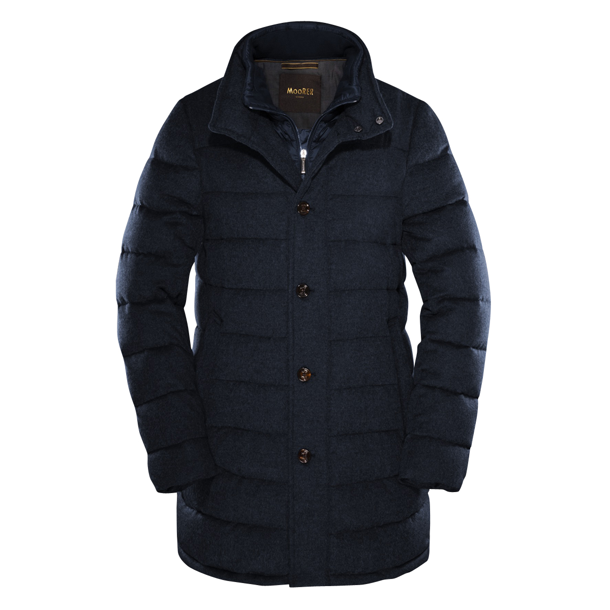 Blue Wool Quilted Calegari Coat
