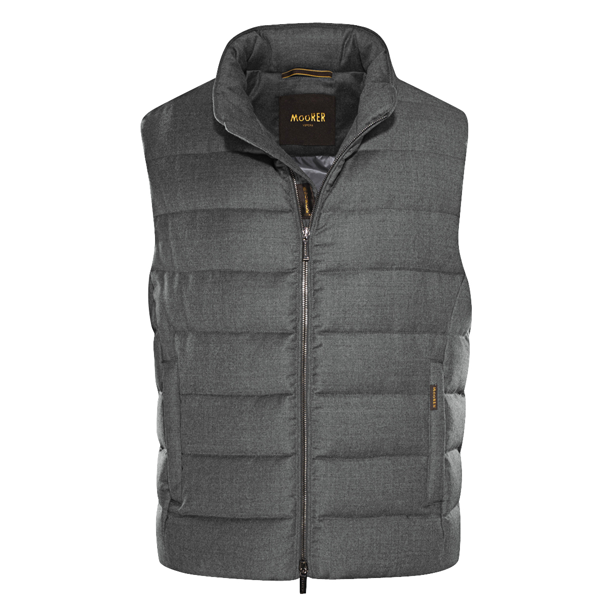 Grey Wool Quilted Vest