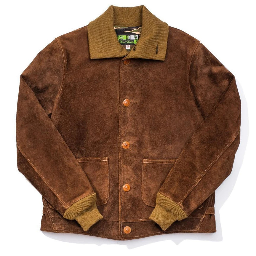 Brown Okimakan Shinki Suede Jacket