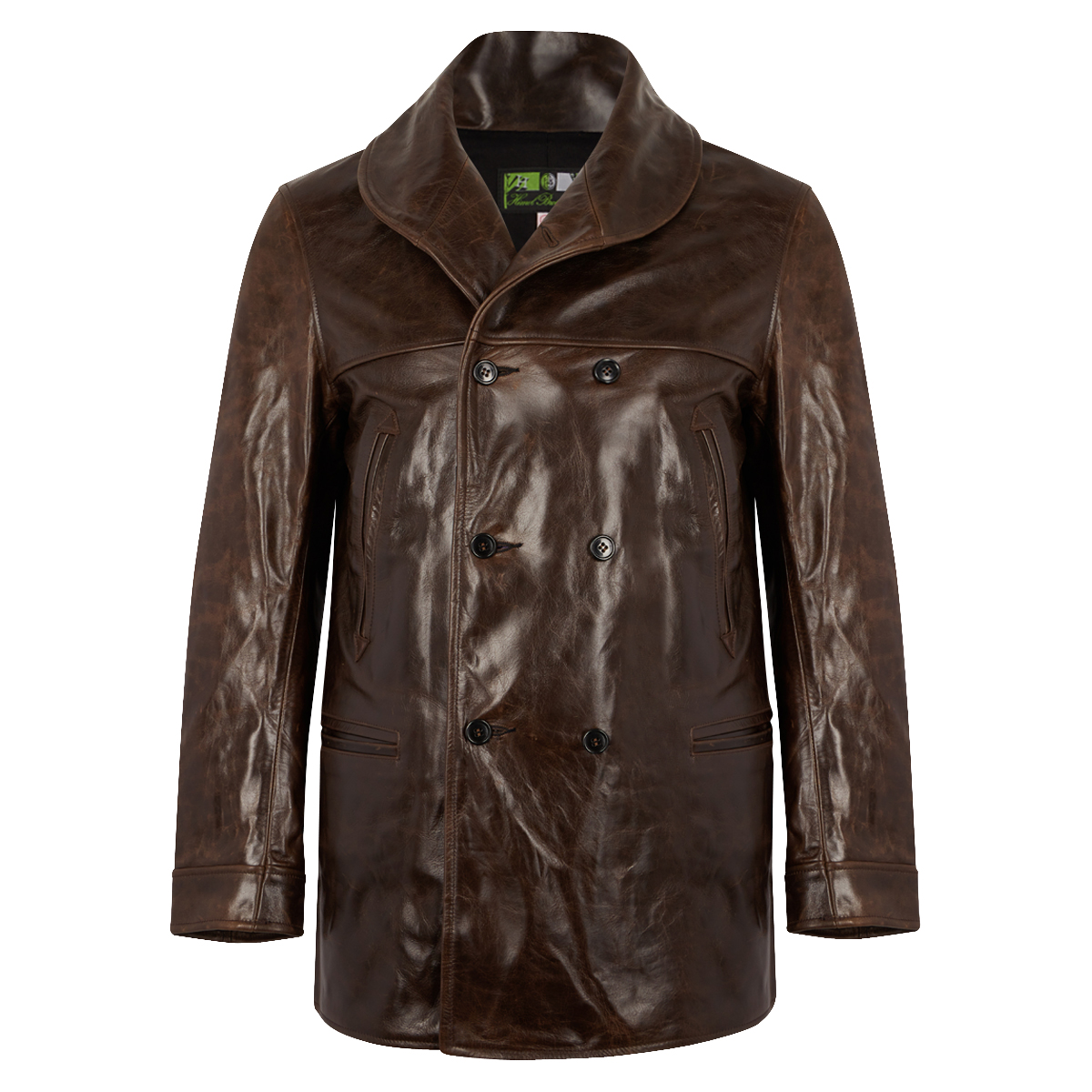 Dark Brown Leather Chinook Jacket