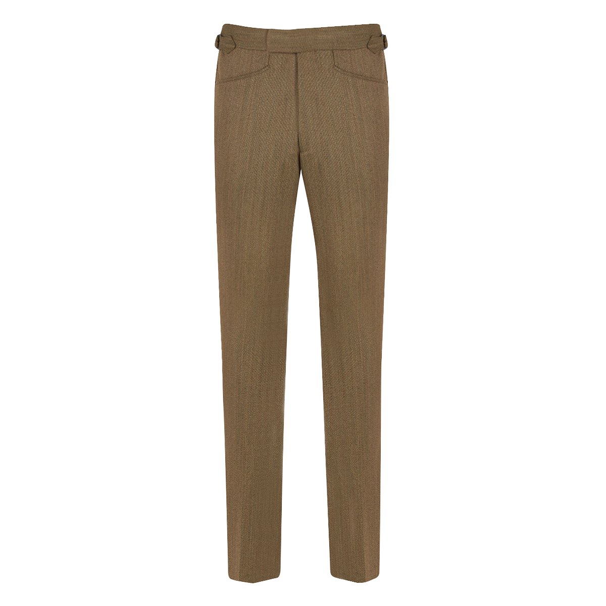 English Khaki Connery Cavalry Twill Trousers