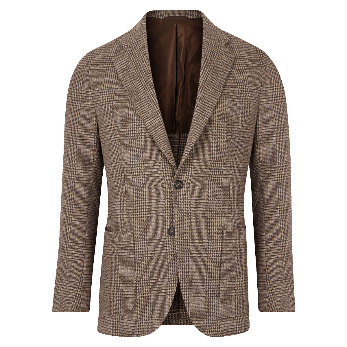 Brown Prince Of Wales Patch Pocket Jacket