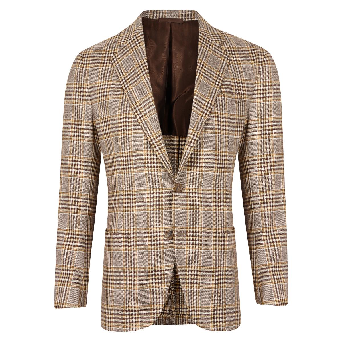 Brown And Beige Prince Of Wales Jacket