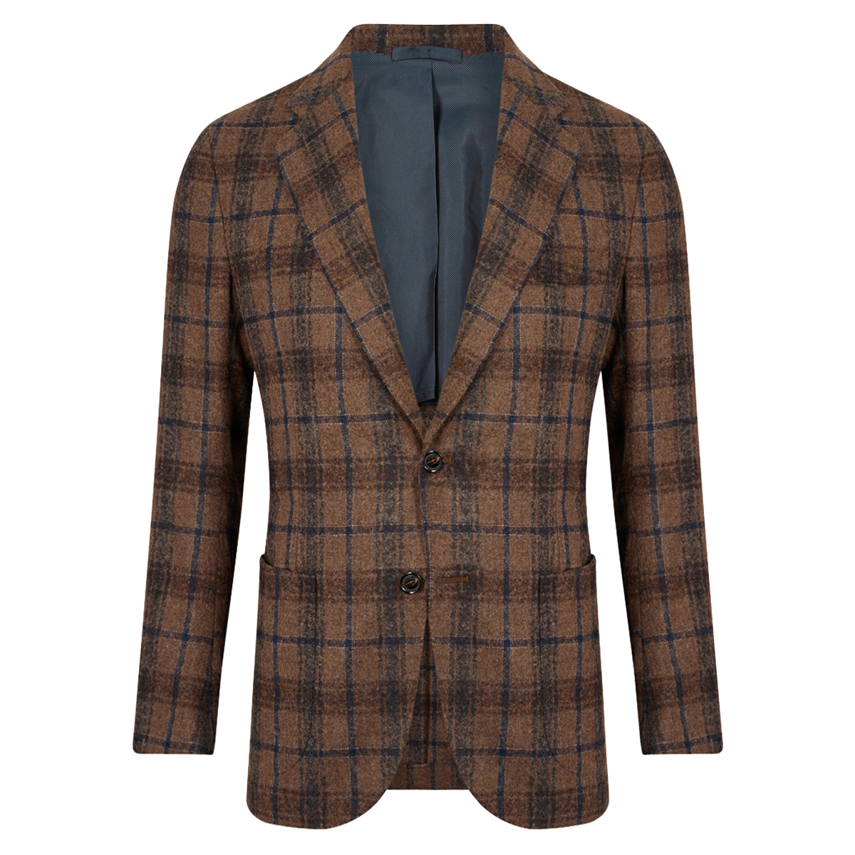 Brown Check Patch Pocket Jacket