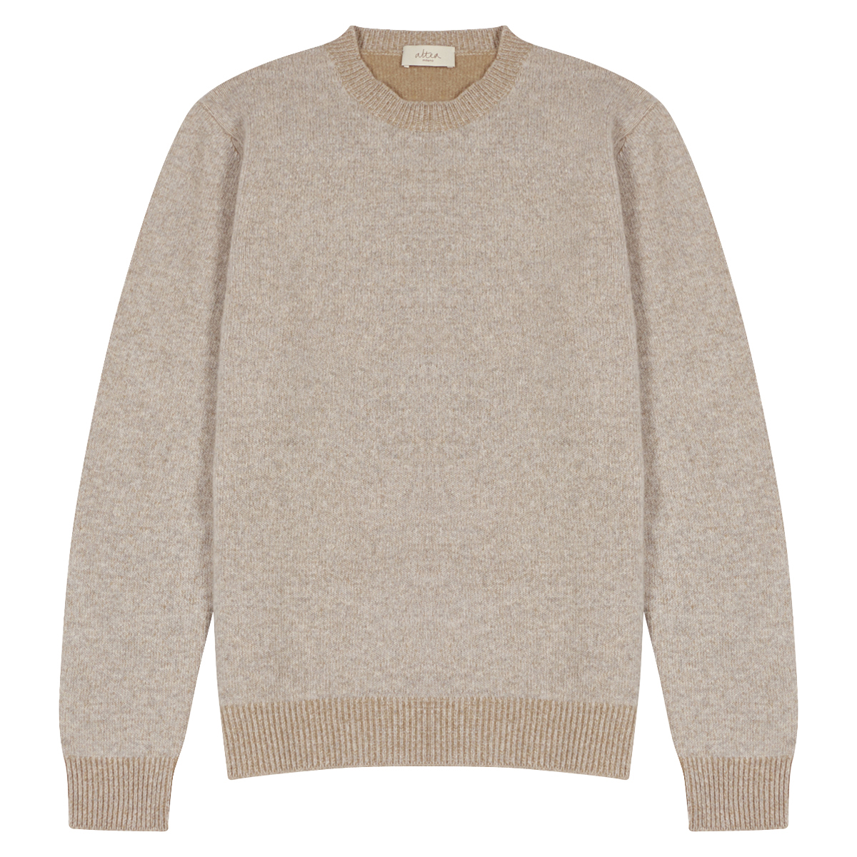 Beige Crew Neck Jumper
