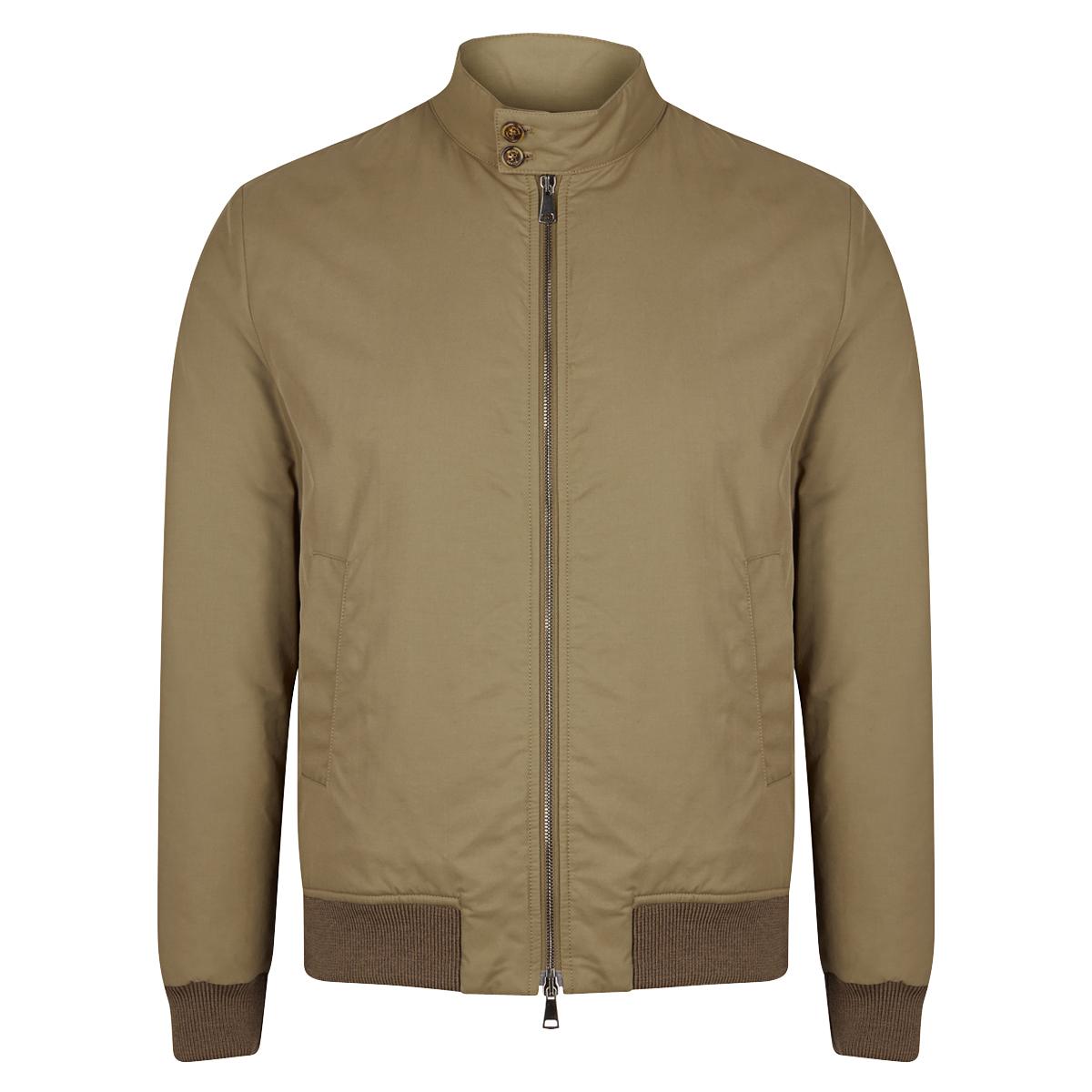 WR Cotton Blend Padded Zip Jacket Beige