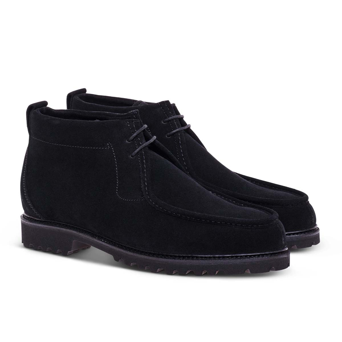 Black Suede Leather Touring Boots