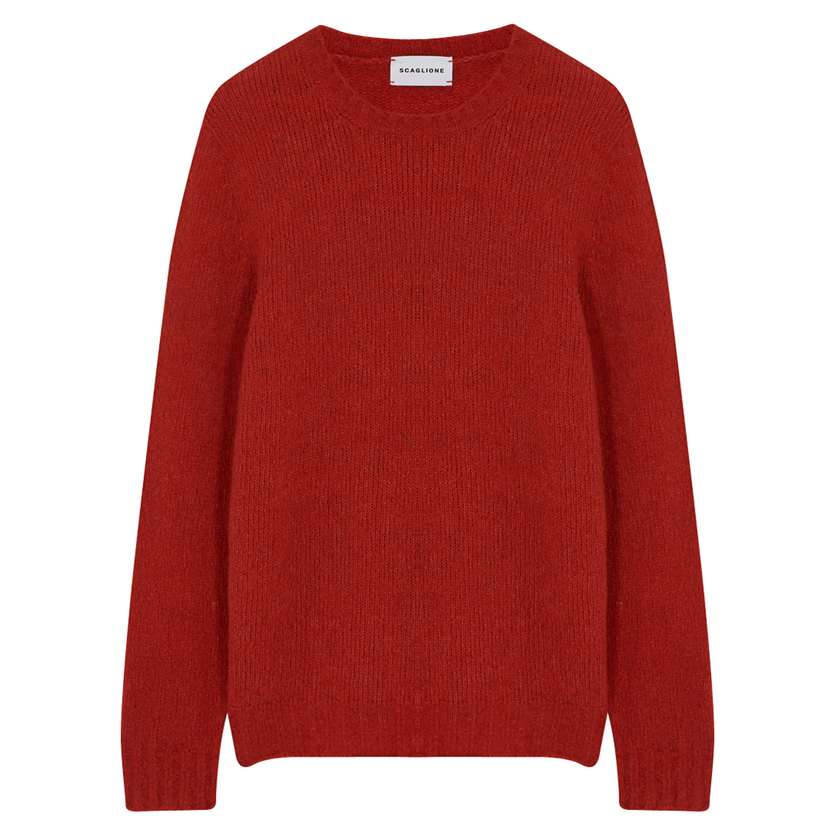 Red Wool Cashmere Crewneck Jumper