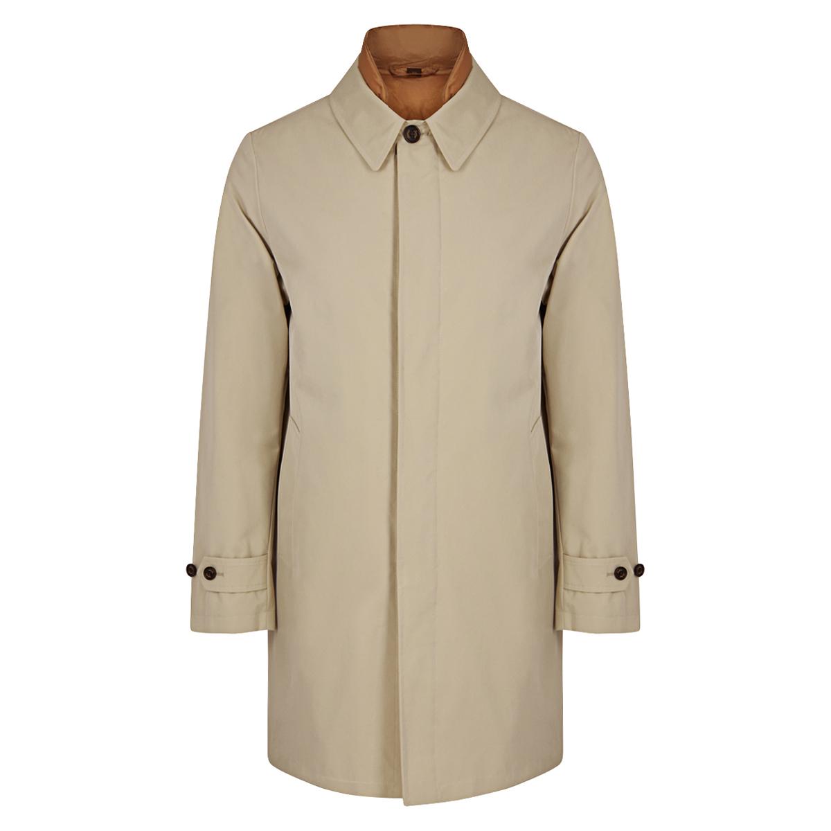 Beige and Gold 3-in-1 Detachable Vest Raincoat