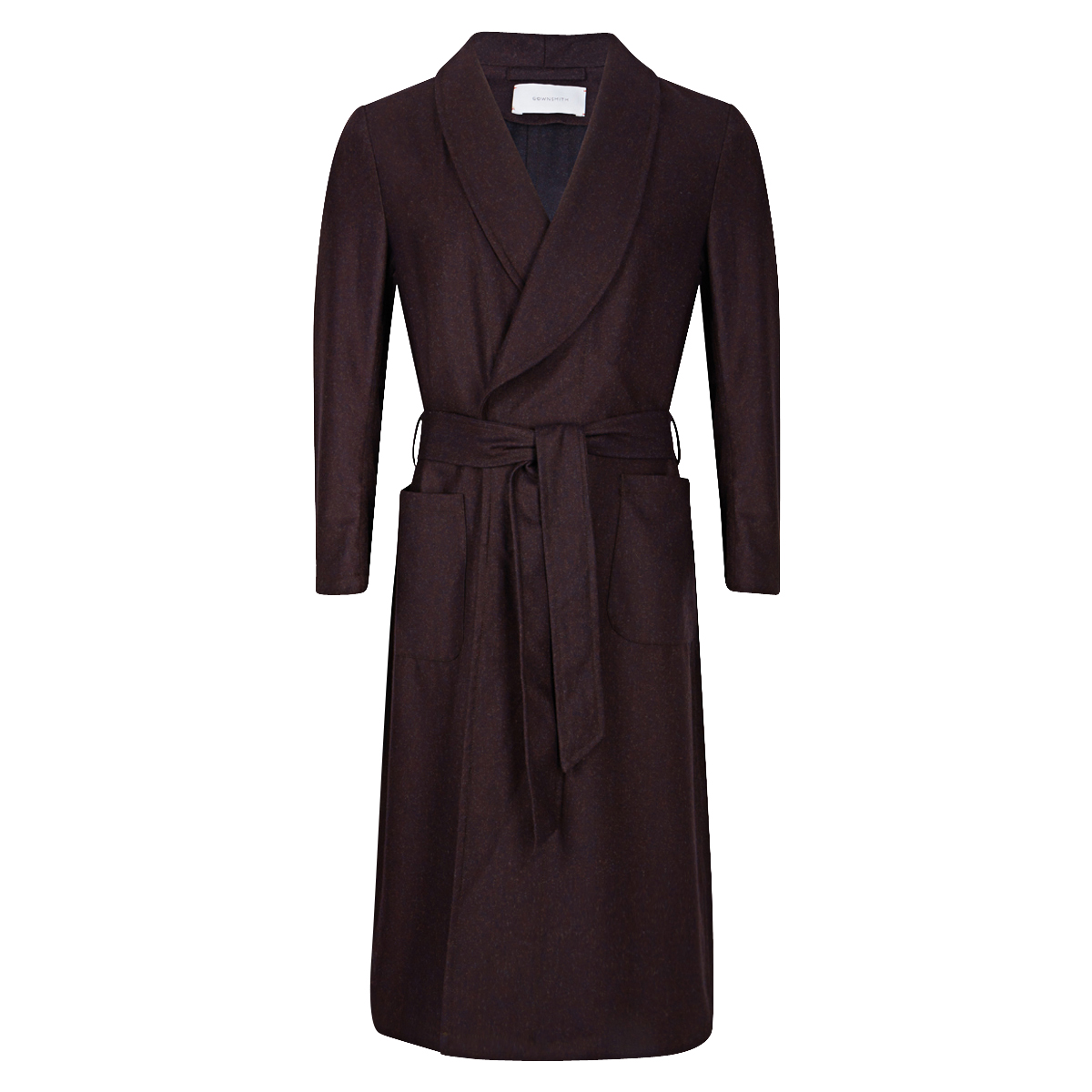 Plum Wool Dressing Gown
