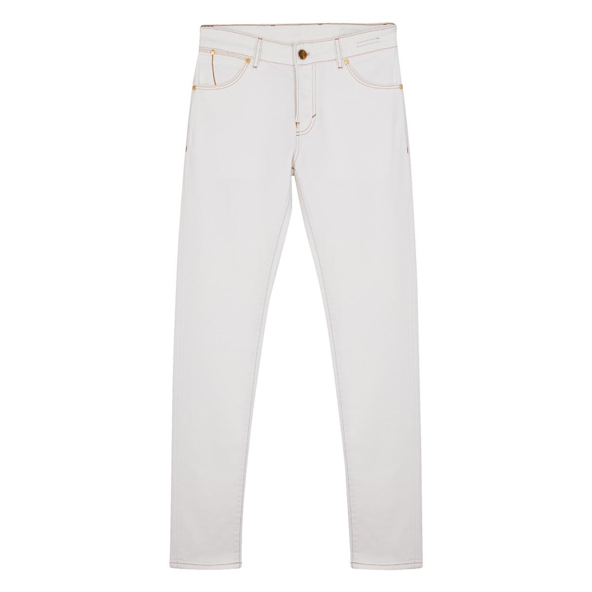 White Smoke Cotton Denim Jeans