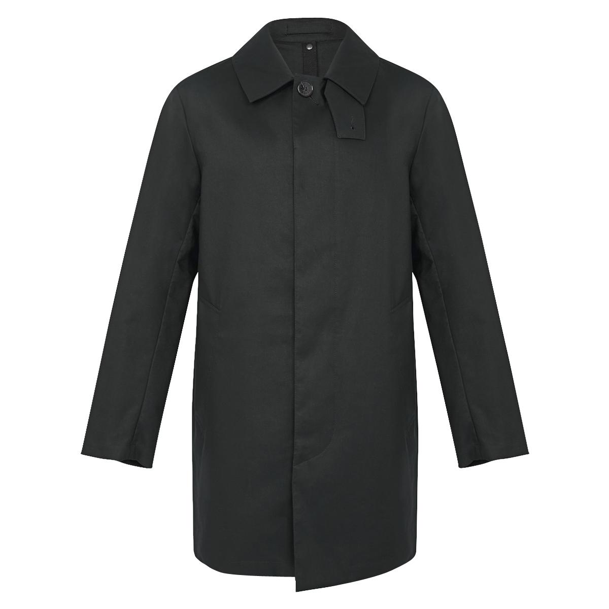 Black Cotton Short Mac