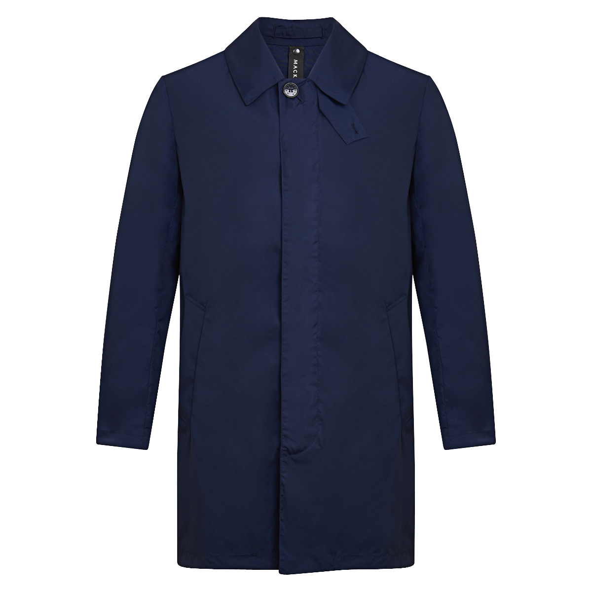 Navy Nylon Short Raincoat