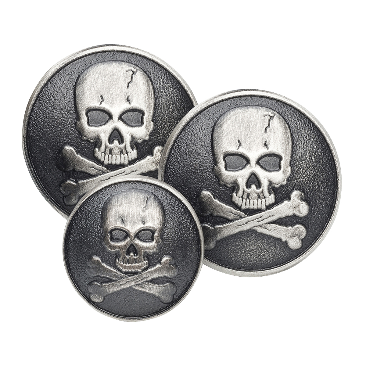 Skull & Crossbones Double Breasted Blazer Button Set