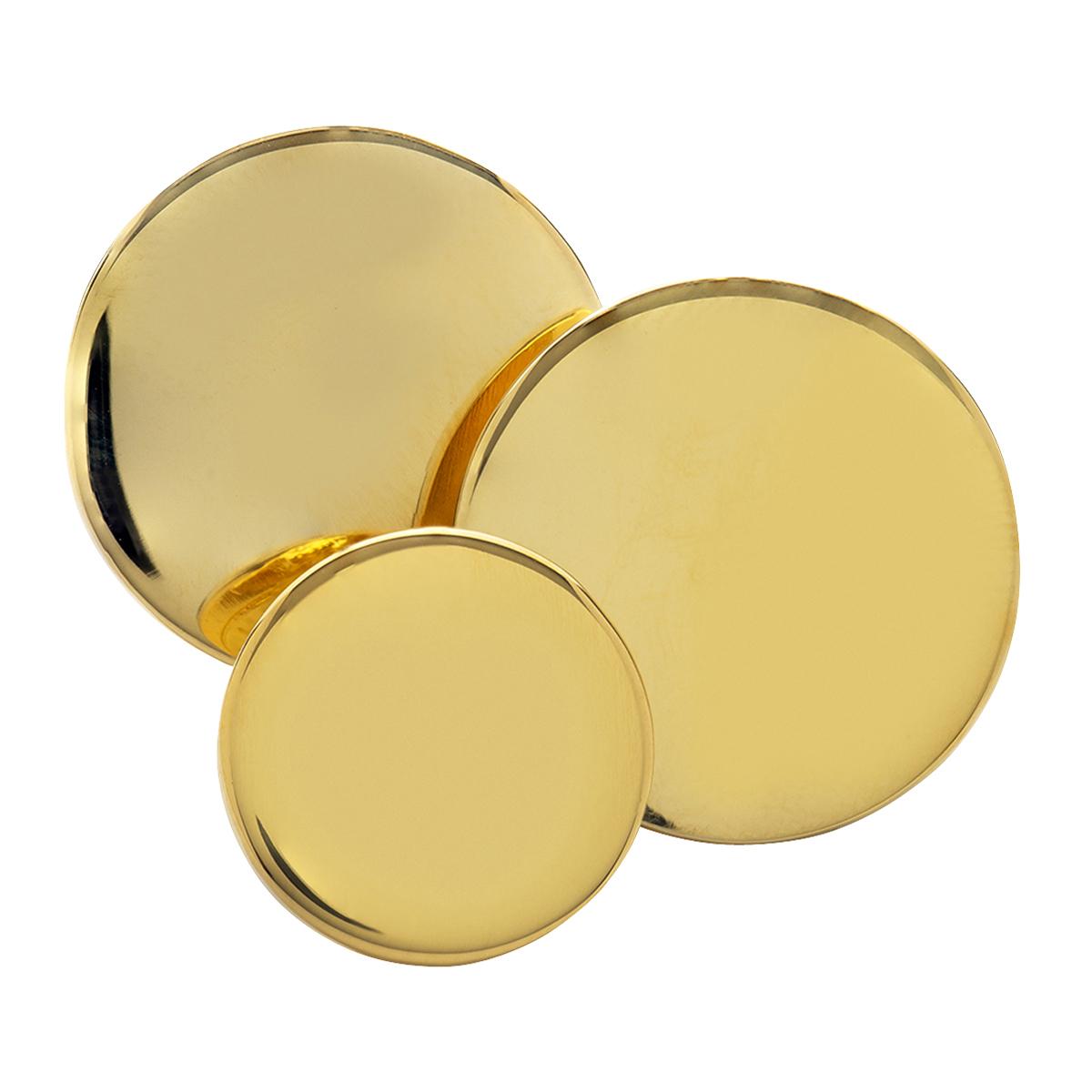 Plain Gilt Double Breasted Blazer Button Set