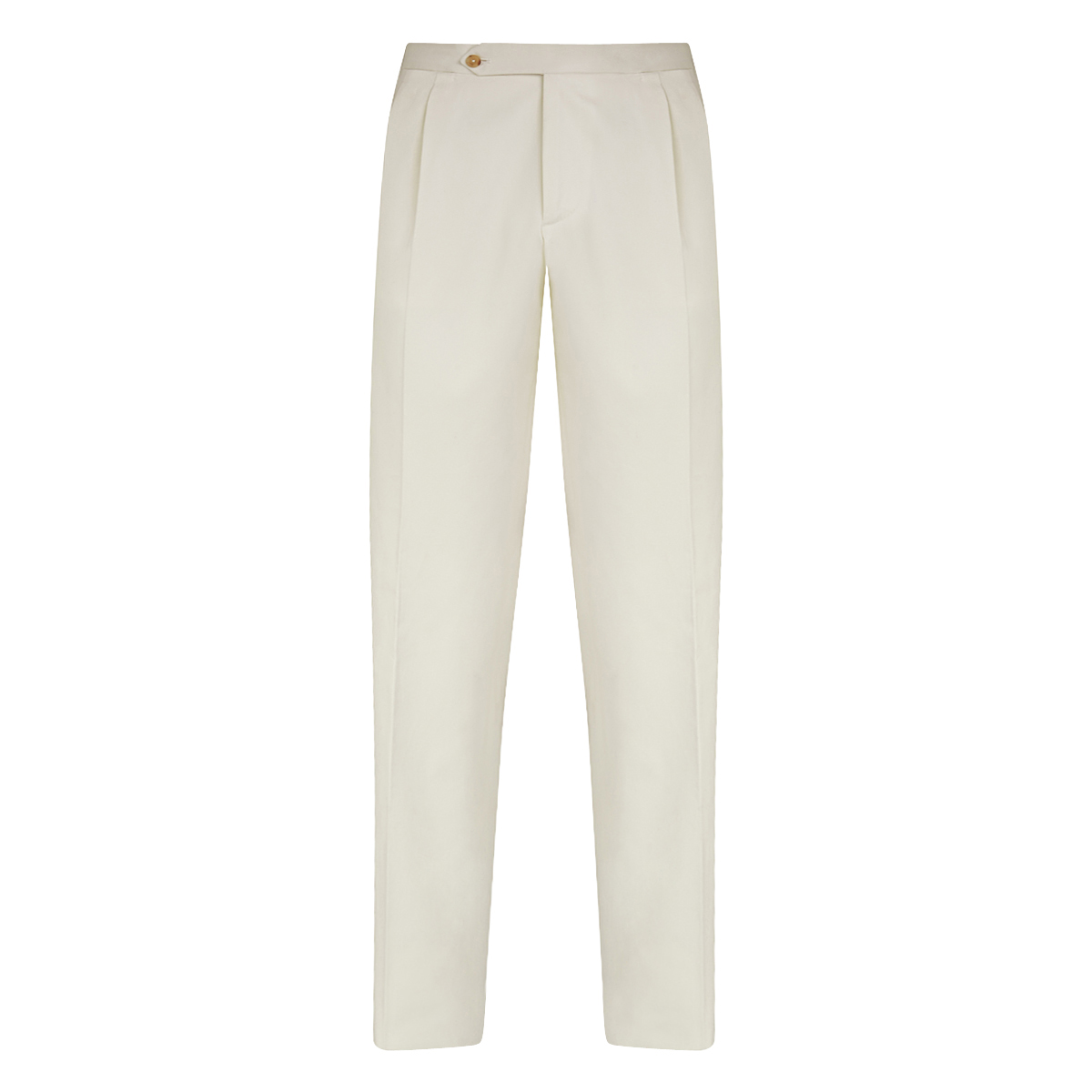 White Cotton Formal Trousers