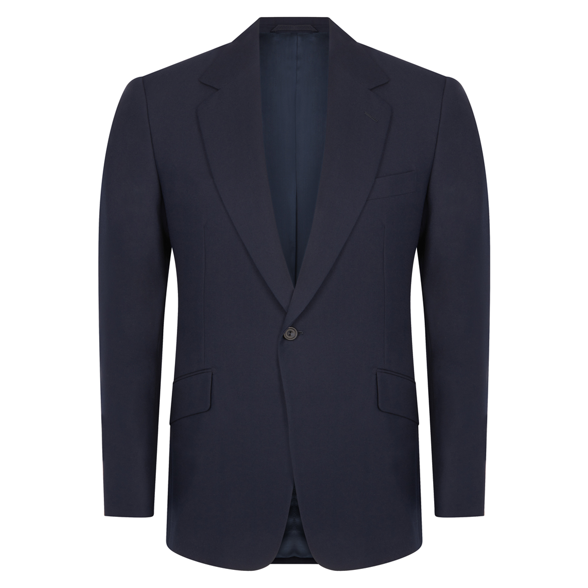 Navy Wool Twill Single-Breasted Suit