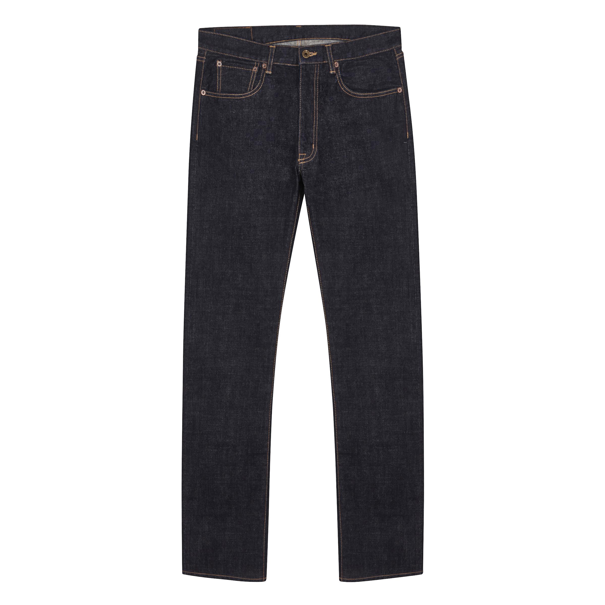 Navy Cotton Kurashiki Japanese Denim Zip Fastening Jeans