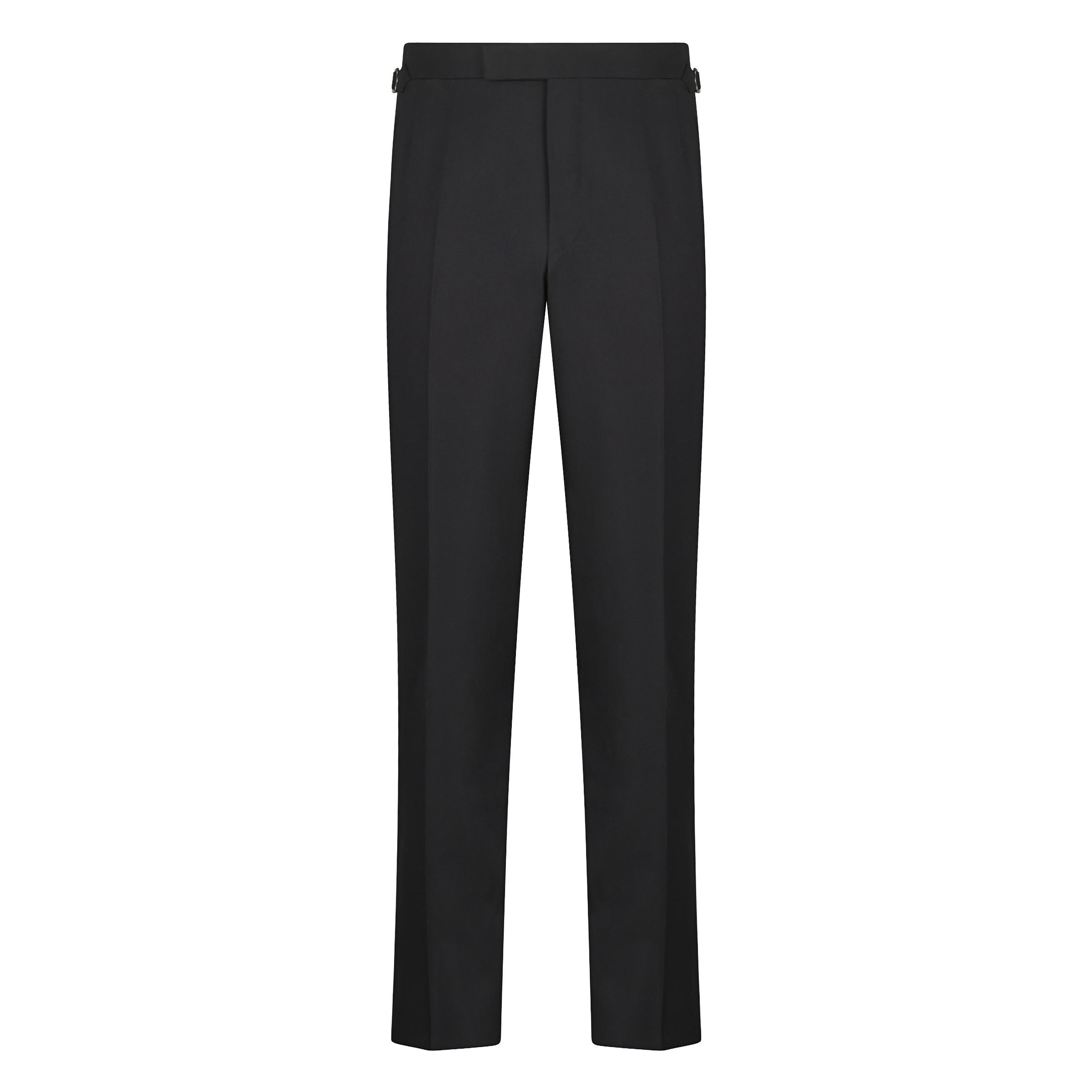 Black Linen Contemporary Trousers