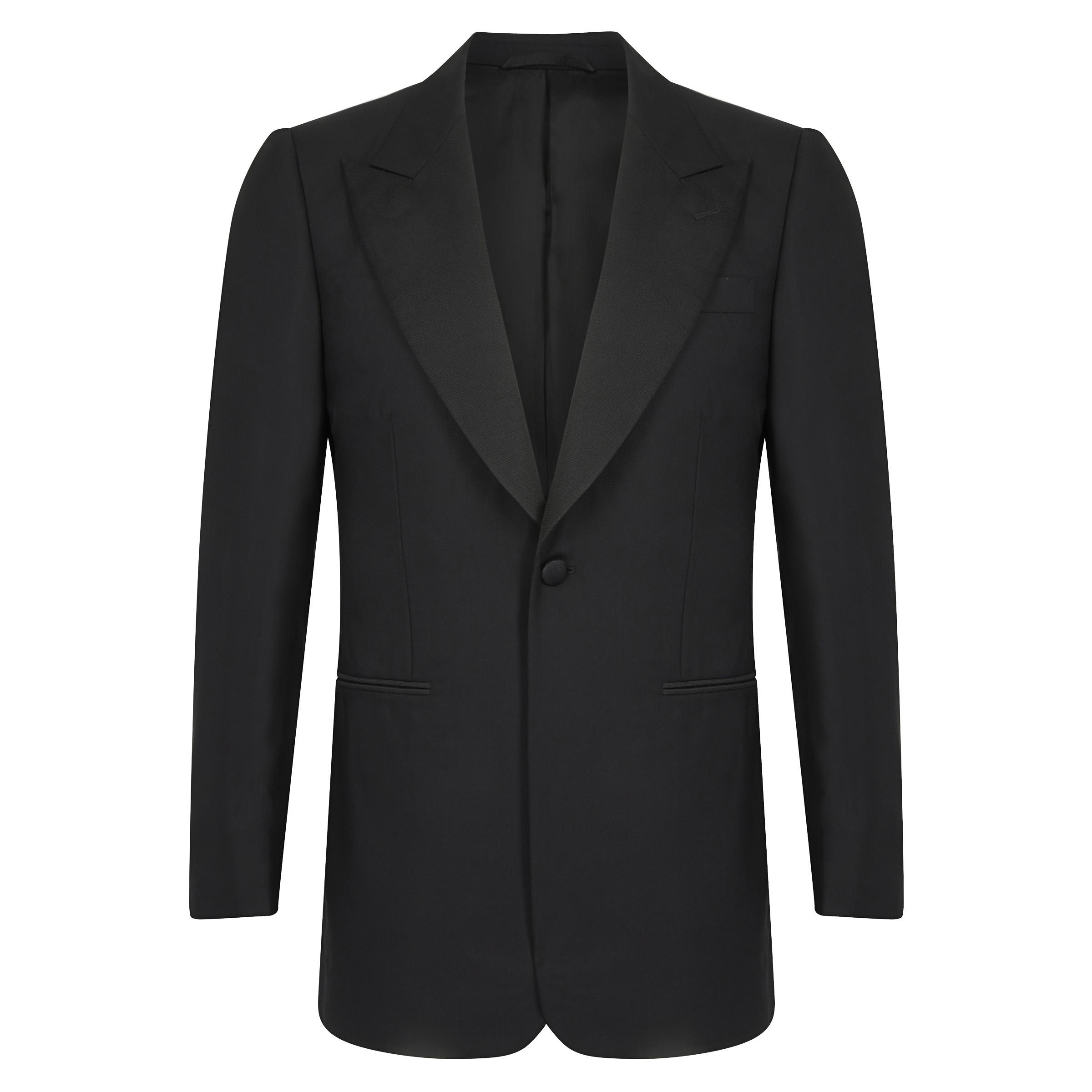 Black Wool Single-Breasted Dinner Jacket