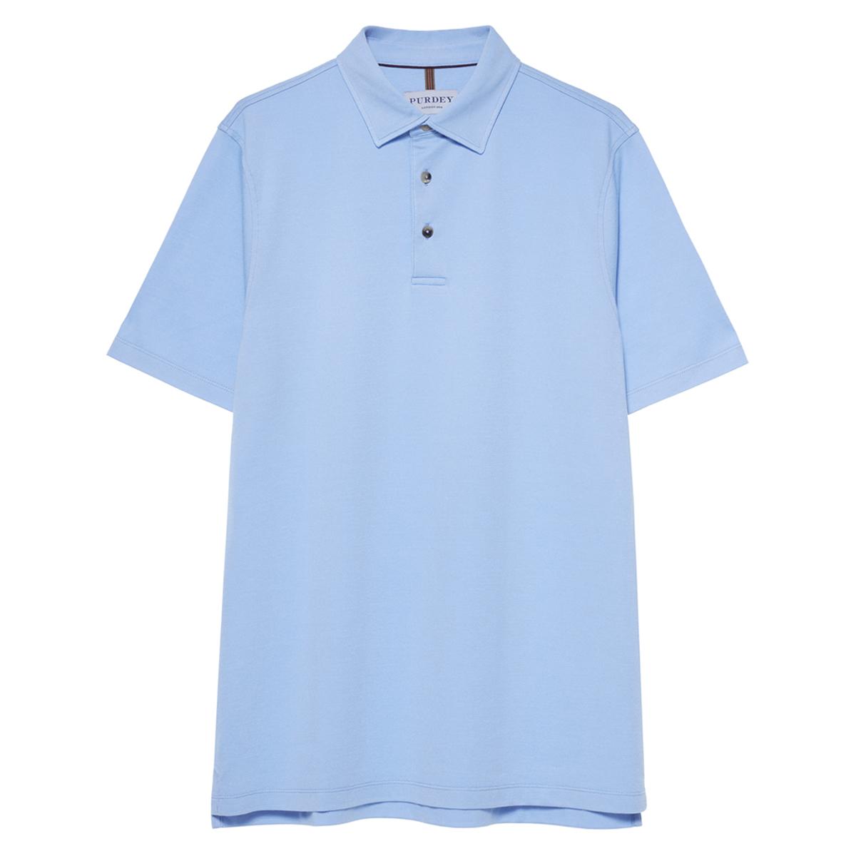 Light Blue Cotton Berkshire Polo Shirt