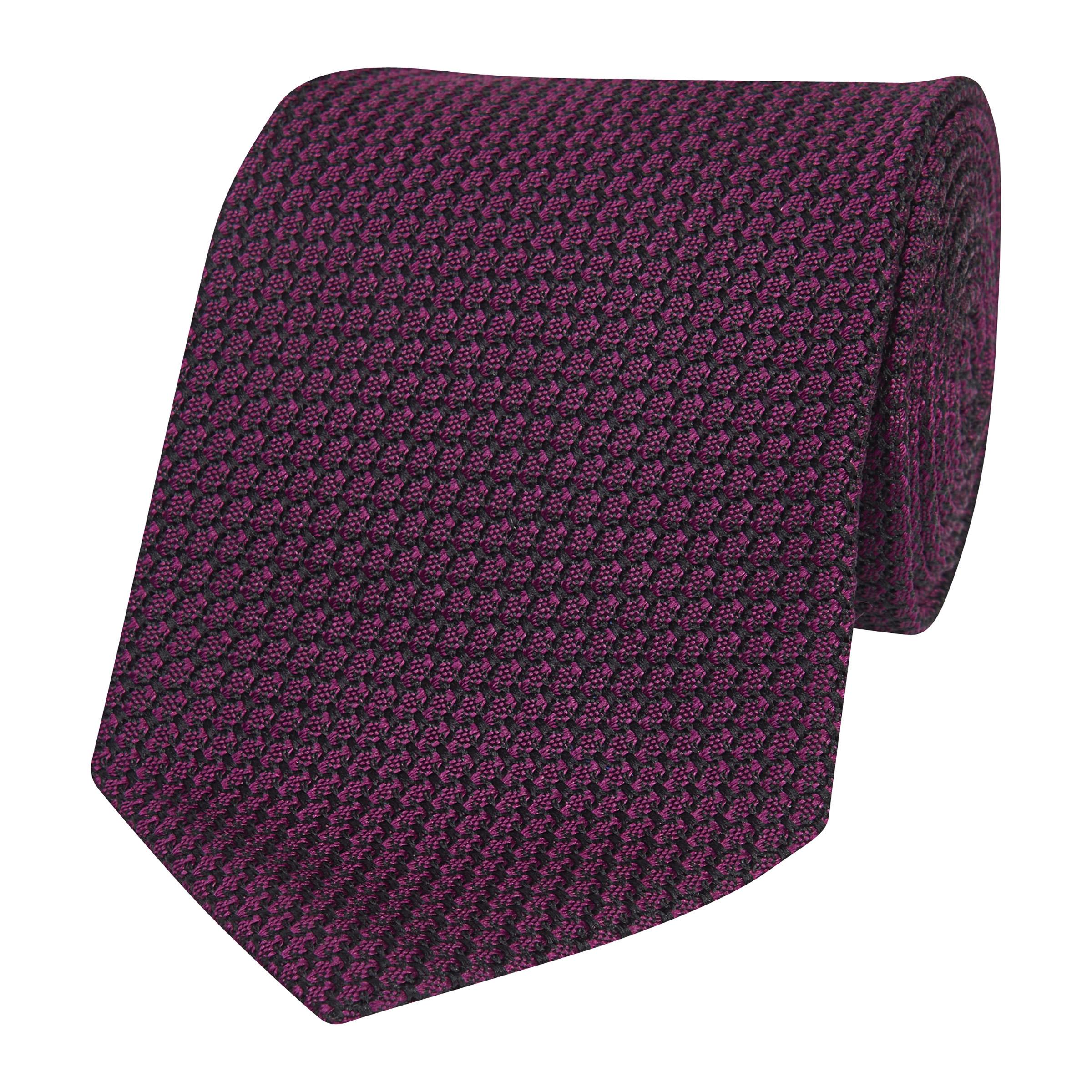 Purple Silk Textured Silk Tie
