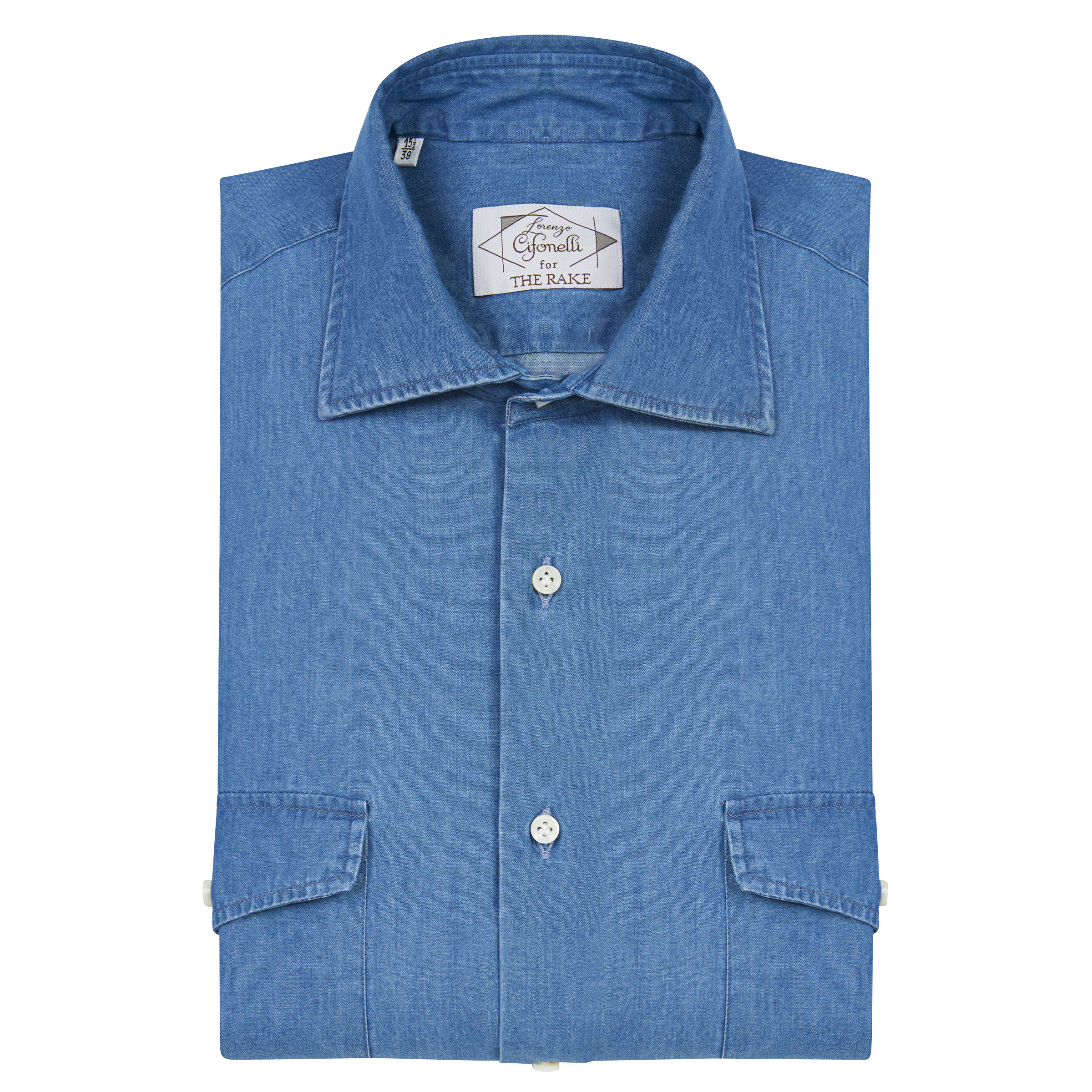 Blue Cotton Denim Shirt