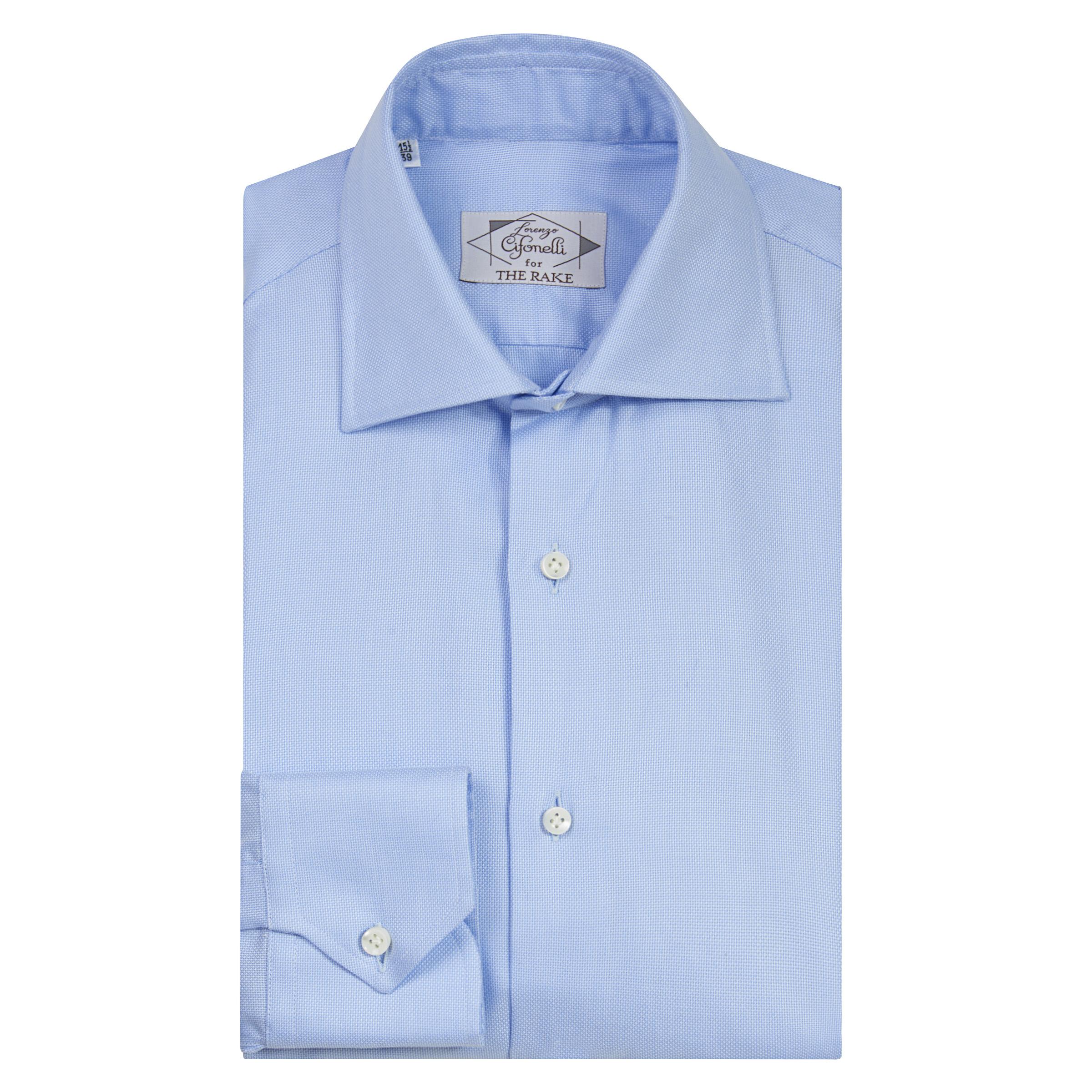 Powder Light Blue Cotton Classic Shirt