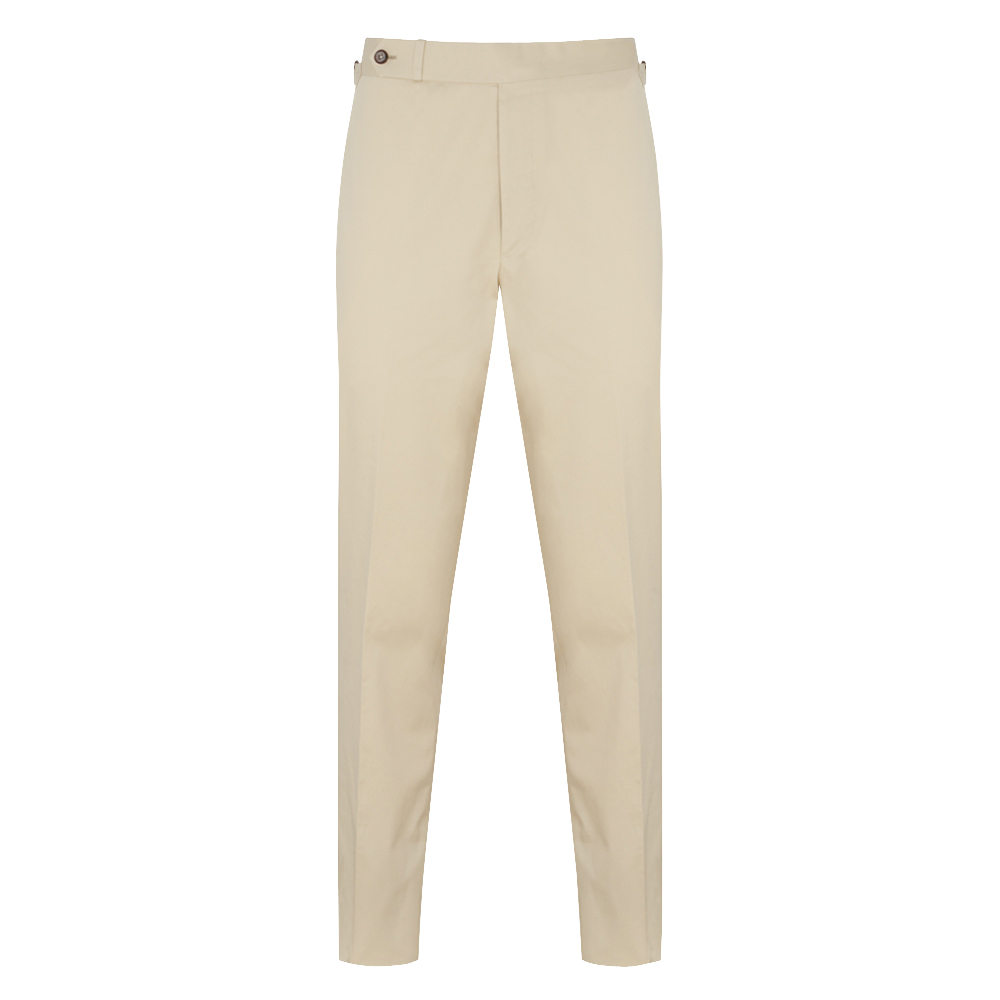 Beige Brushed Cotton 'Weekend' Chinos