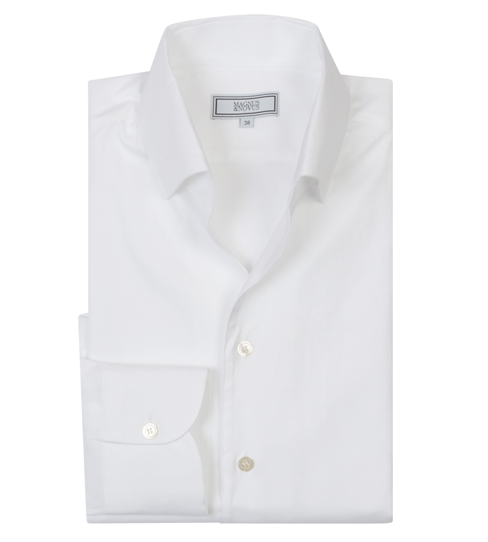 White Oxford Cotton 'Business-Casual Leisure' Shirt