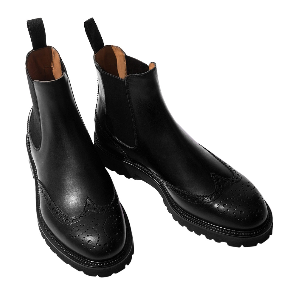 Keith Black Leather Chelsea Boots