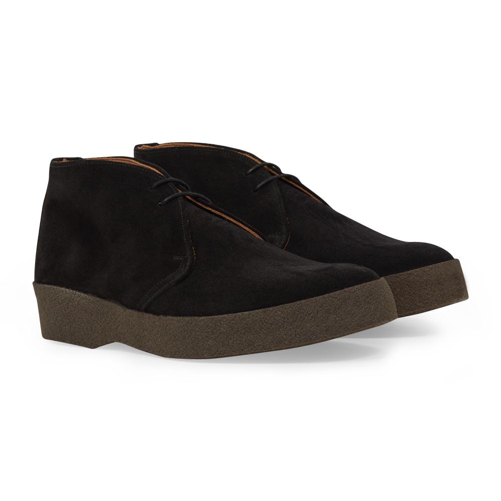 Black Suede Hi-Top Chukka Boots