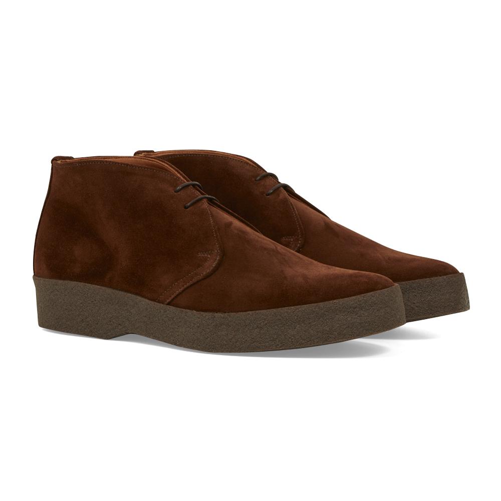 Brown Suede Hi-Top Chukka Boots