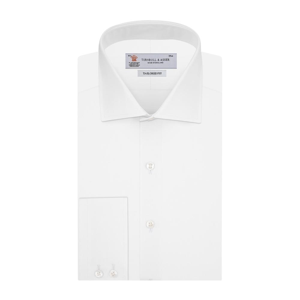 White Cotton Kent Collar Shirt