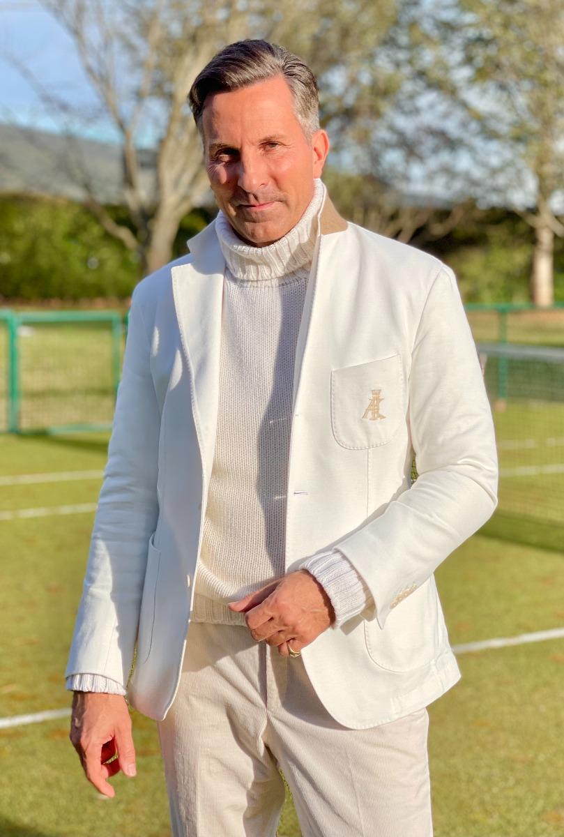 AK MC Tennis Blazer Jersey Cotton Cream