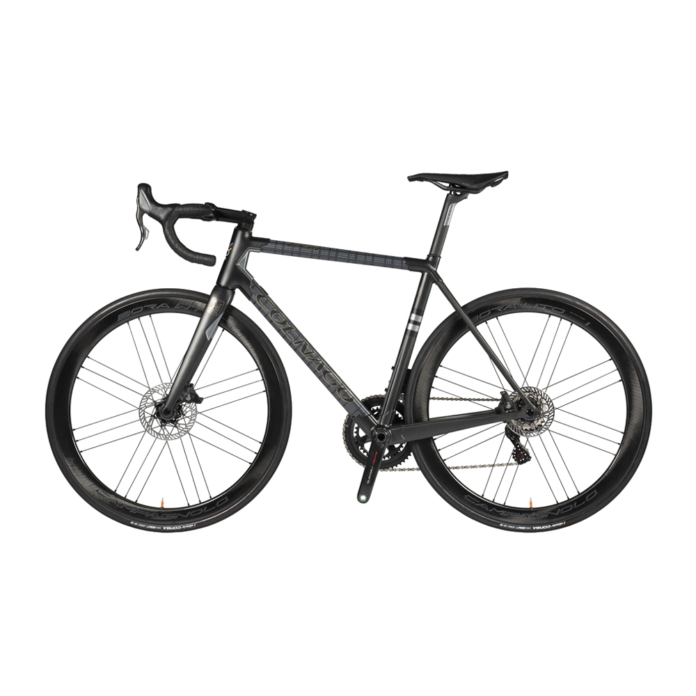 Black, Charcoal and Prince-of-Wales Check Fox Brothers-Print Carbon Fiber C64 Bike