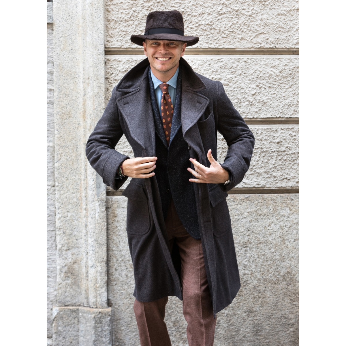 Brown Wool Iconic Ulster Coat