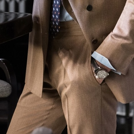 Fawn Brown Wool Genny Suit Trousers