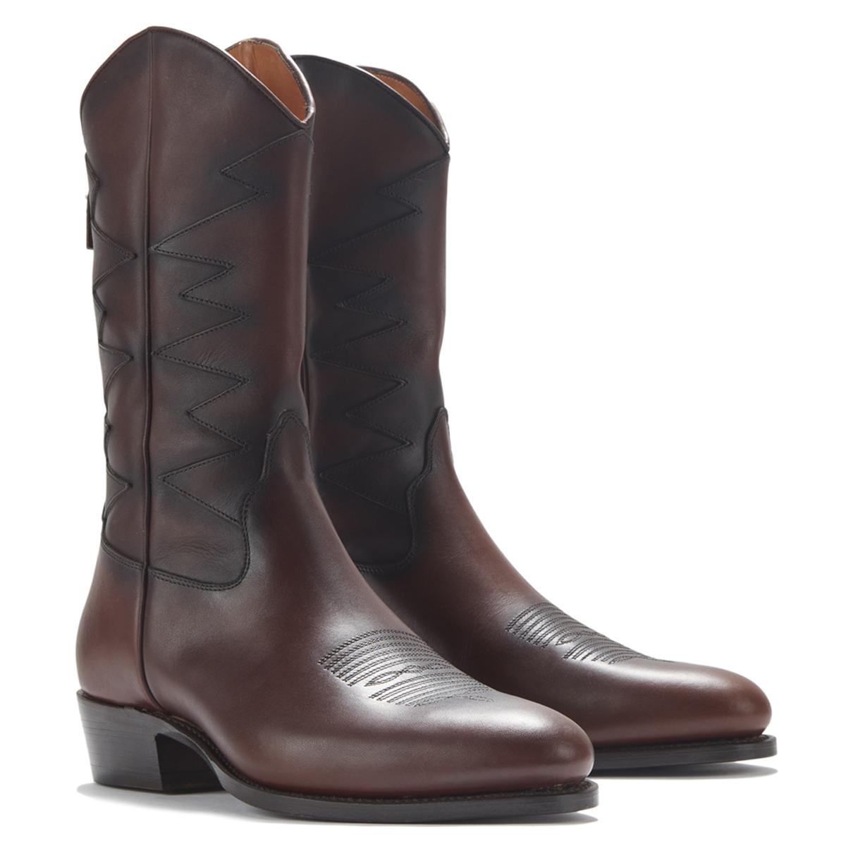 Cormac Brown Waxy Calf Rear Zip Boots