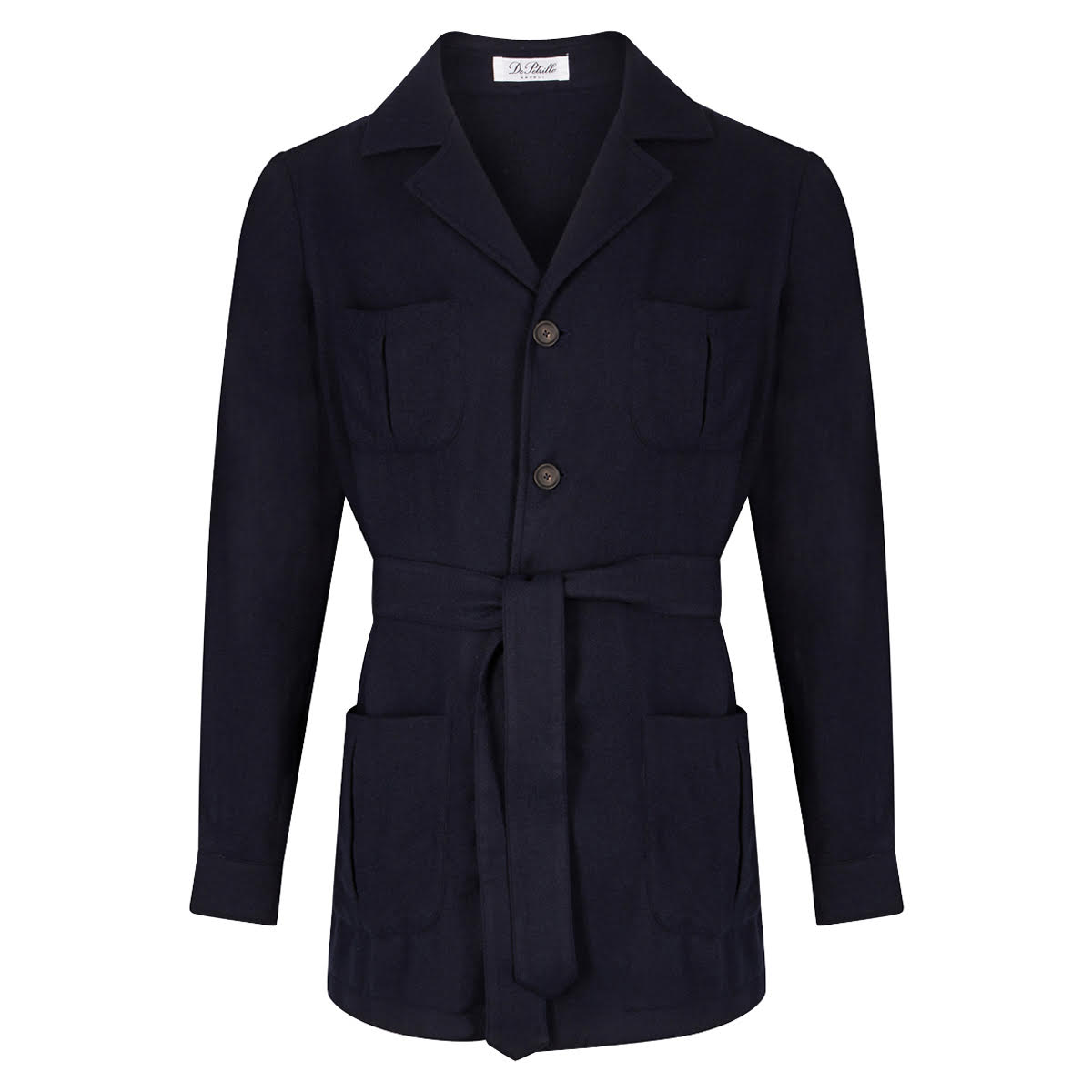 Navy Cashmere Sahariana Travel Jacket