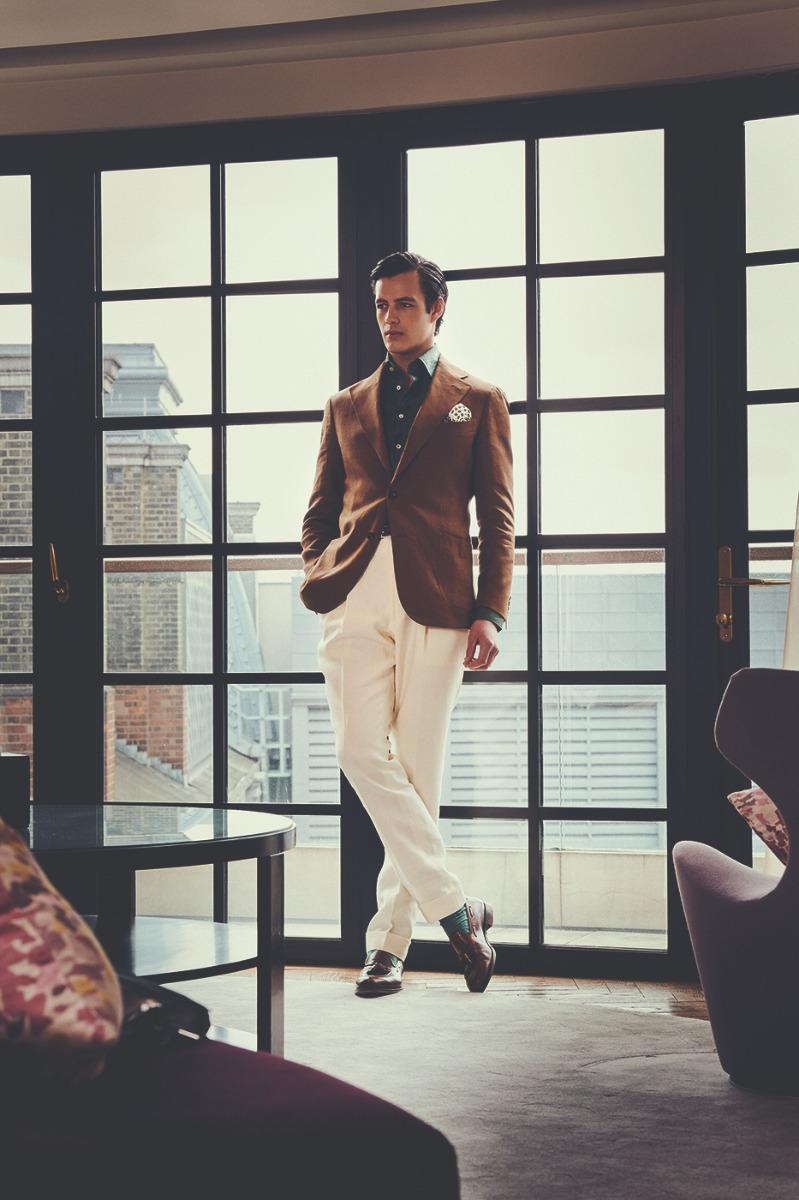 Off-White Wool Gabardine Pleated Trousers