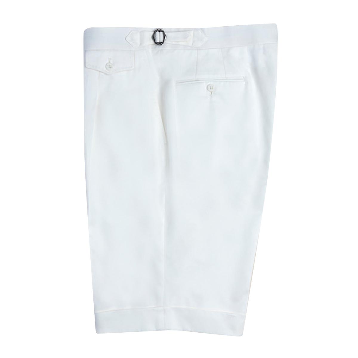 White Fine Cotton Shorts